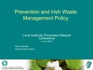 Prevention and Irish Waste Management Policy