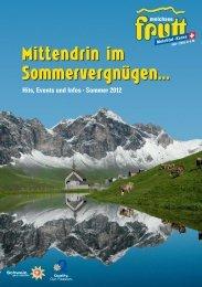 Hits, Events und Infos • Sommer 2012 - Melchsee-Frutt