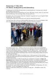 Donnerstag, 17. März 2011 W1 Ruinen Alt-Regensberg und ...