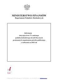 Wykaz organizacji pożytku publicznego, które w 2011 r. otrzymały 1 ...