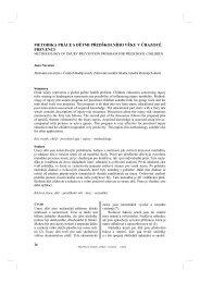 metodika práce s dětmi předškolního věku v úrazové prevenci