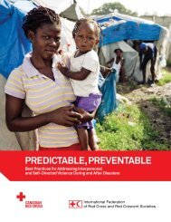 Predictable, Preventable - Canadian Red Cross