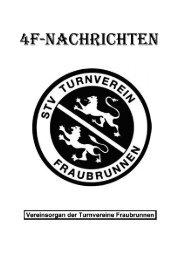 mädchenriege - Turnverein Fraubrunnen