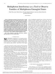 Multiphoton Interference as a Tool to Observe Families of ...