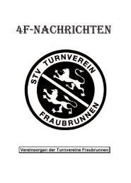 drucken ist unsere passion. - Turnverein Fraubrunnen