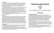 Grade K Curriculum Guide - Wissahickon School District