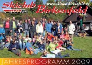 Unser Ski-Heft 2009 (PDF-Datei, 3,3 - Skiclub Birkenfeld e. V.