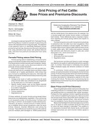 Grid Pricing of Fed Cattle - OSU Fact Sheets - Oklahoma State ...