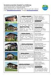 Vermieterverzeichnis Henndorf am Wallersee - Stadtausstellung.at