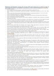 Risoluzione Parlamento europeo 14 marzo 2013-minacce da ... - Snop