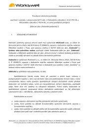 Všeobecné obchodní podmínky uzavřené v souladu s ustanovením ...