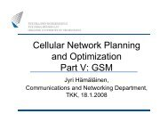 Cellular Network Planning and Optimization Part V: GSM