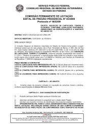 COMISSÃO PERMANENTE DE LICITAÇÃO EDITAL DE ... - CRMV-PR
