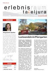 Lustwandeln im Pfarrgarten - Erlebnisraum Tafeljura