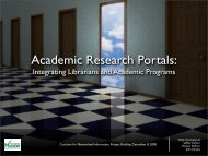 Academic Research Portals: - CNI