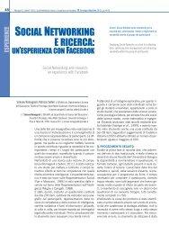 SOCIAL NETWORKING E RICERCA: - TD Tecnologie Didattiche