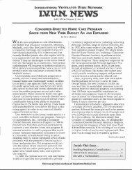 IVUN News (Fall 1995, Vol. 9, No. 2) - Polio Place