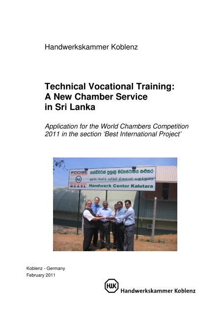 Technical Vocational Training: A New Chamber ... - ICC Deutschland