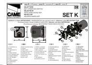 001 SET-K - Came