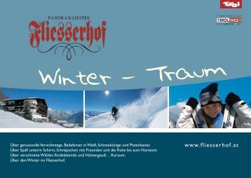 Download winter price list 2010/2011 (pdf) - Hotel Fliesserhof