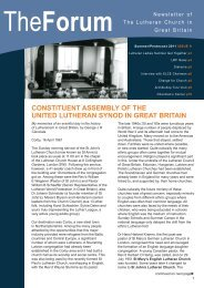 Issue 9 - Lutheran Church in Great Britain