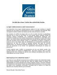 Note de cadrage de l'atelier - Cités Unies France