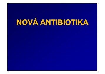 Nová antibiotika - LF