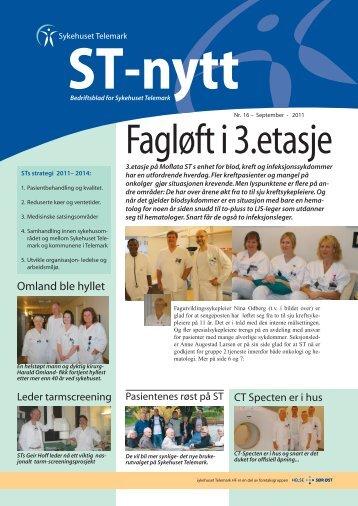 ST-Nytt nr. 16, 2011 - Sykehuset Telemark