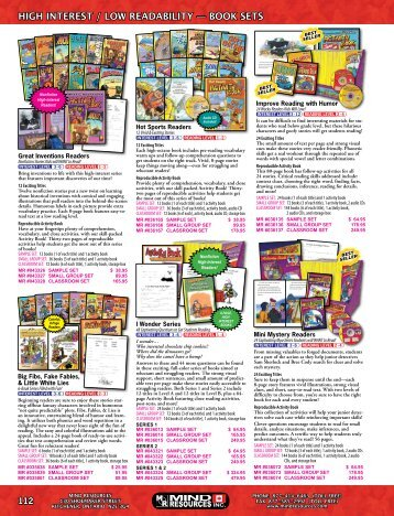 High Interest / Low Readability - Book Sets (pages ... - Mind Resources