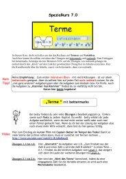 Terme-Rechnen mit Variablen - städtisches Gymnasium Herten