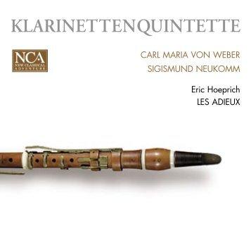 KLARINETTENQUINTETTE - nca - new classical adventure