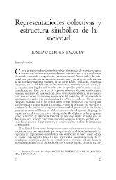 Representaciones colectivas y estructura simbólica de la sociedad
