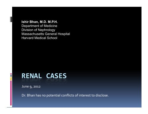 RENAL CASES