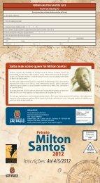 Inscrições: Até 4/5/2012
