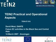 TEIN2 Practical and Operational Aspects - TEIN3