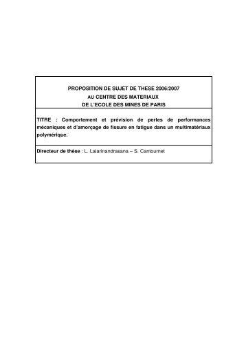 information - Le Centre des Matériaux