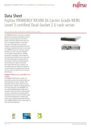 Data Sheet Fujitsu PRIMERGY RX300 S6 Carrier Grade NEBS ...