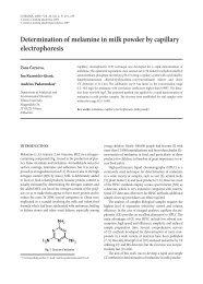 Determination of melamine in milk powder by capillary - Lietuvos ...
