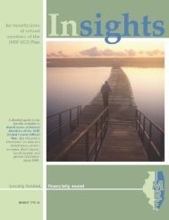 IMRF Insights for beneficiaries of retired members of the ECO plan