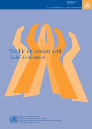 Vieillir en restant actif - libdoc.who.int - World Health Organization