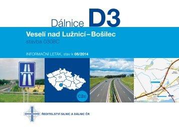 Dálnice D3 0308C Veselí nad Lužnicí-Bošilec - Ředitelství silnic a ...