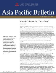 Mongolia's Turn at the