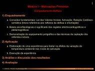 Psicofis. das Motivações Primárias: comportamento reflexo