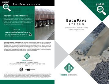 EucoPave Brochure - Euclid Chemical Co