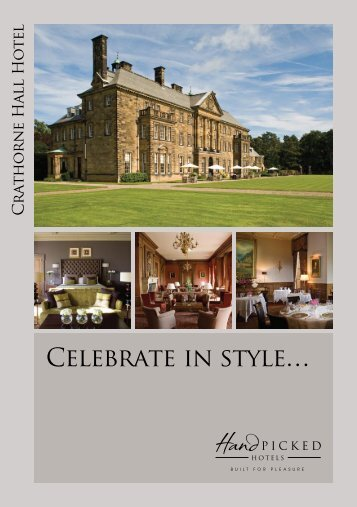 Celebrate in style… - Hand Picked Hotels