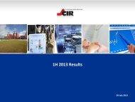 1H 2013 Results - Cir
