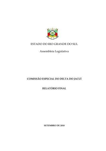 Relatório Final Comissão Especial Delta do Jacuí - Assembléia ...