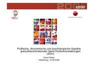Politische, ökonomische und psychologische Aspekte ... - EASM 2008