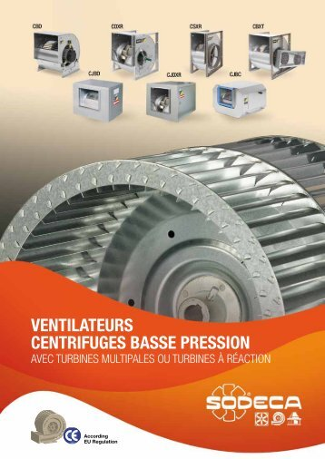 VENTILATEURS CENTRIFUGES BASSE PRESSION - Sodeca