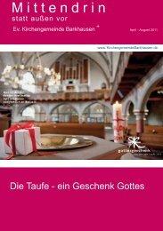 M i t t e n d r i n - Evangelische Kirchengemeinde Barkhausen